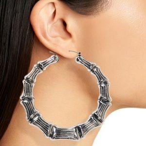 KITSCH HAIR TIES Jewelry - KITSCH HAIR TIES Bamboo Hoop Earrings 2fdb9d60b41